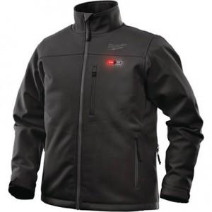 Moška črna Softshell jakna z gretjem M