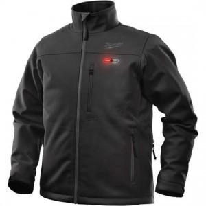 Moška črna Softshell jakna z gretjem S